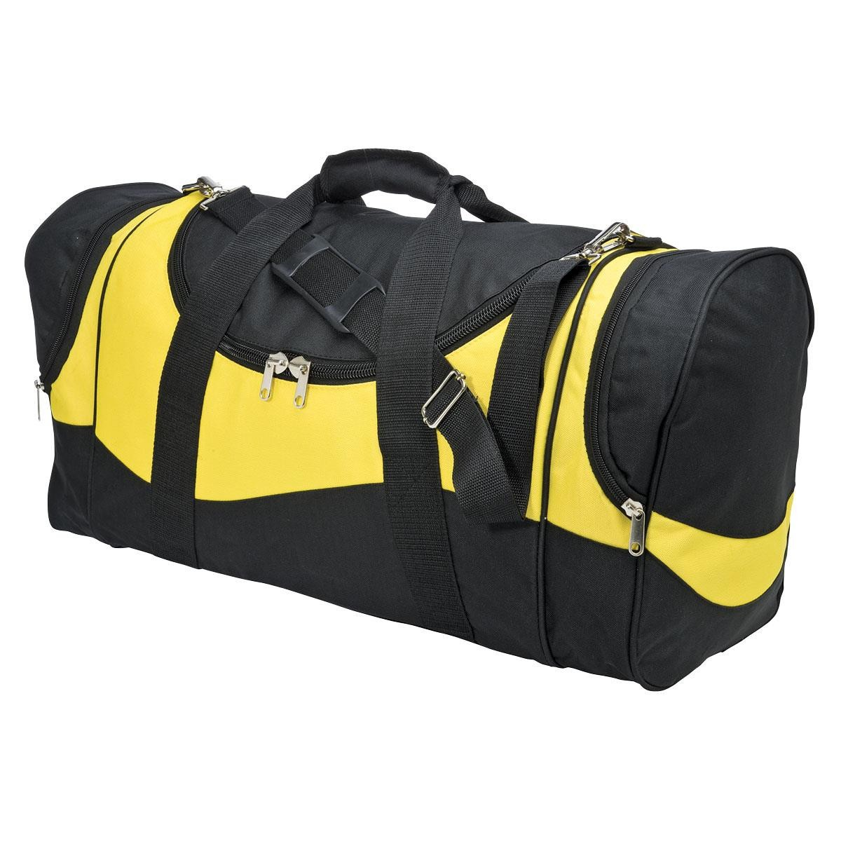 Sunset Sports Bag - Black & Gold