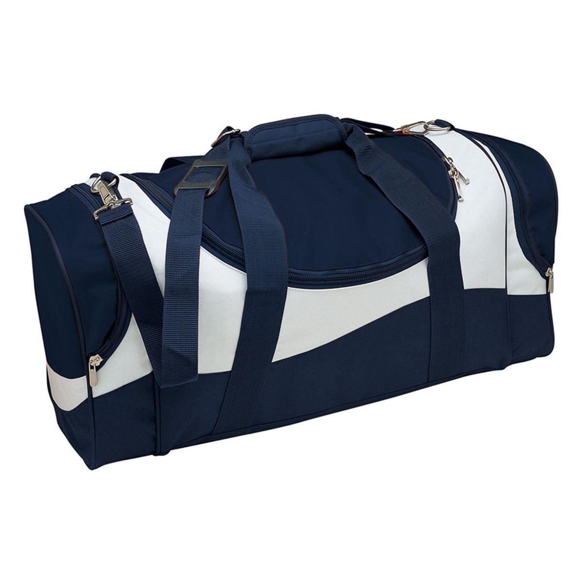 Sunset Sports Bag - Navy & White