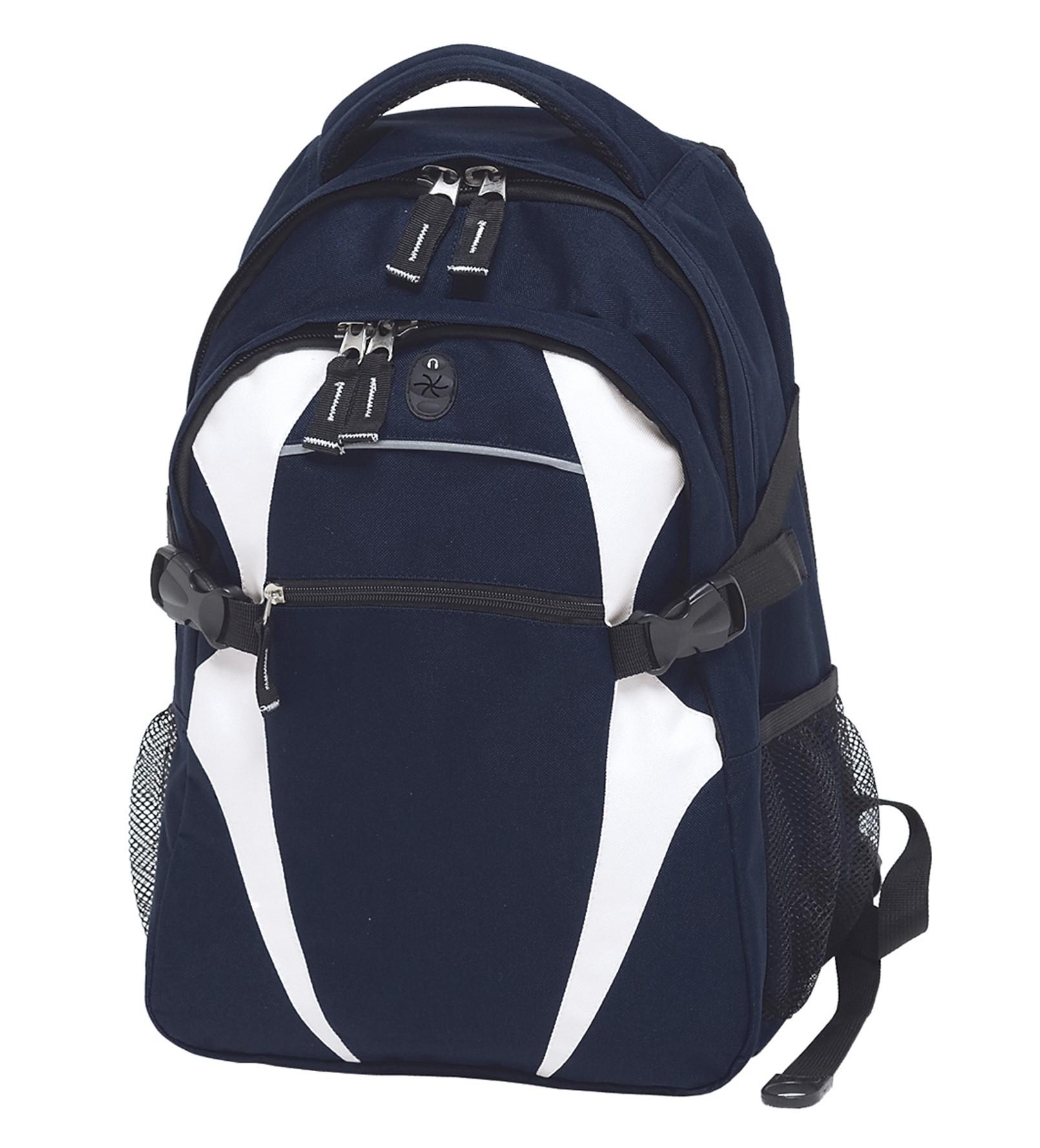 Spliced Zenith Backpack - Navy & White