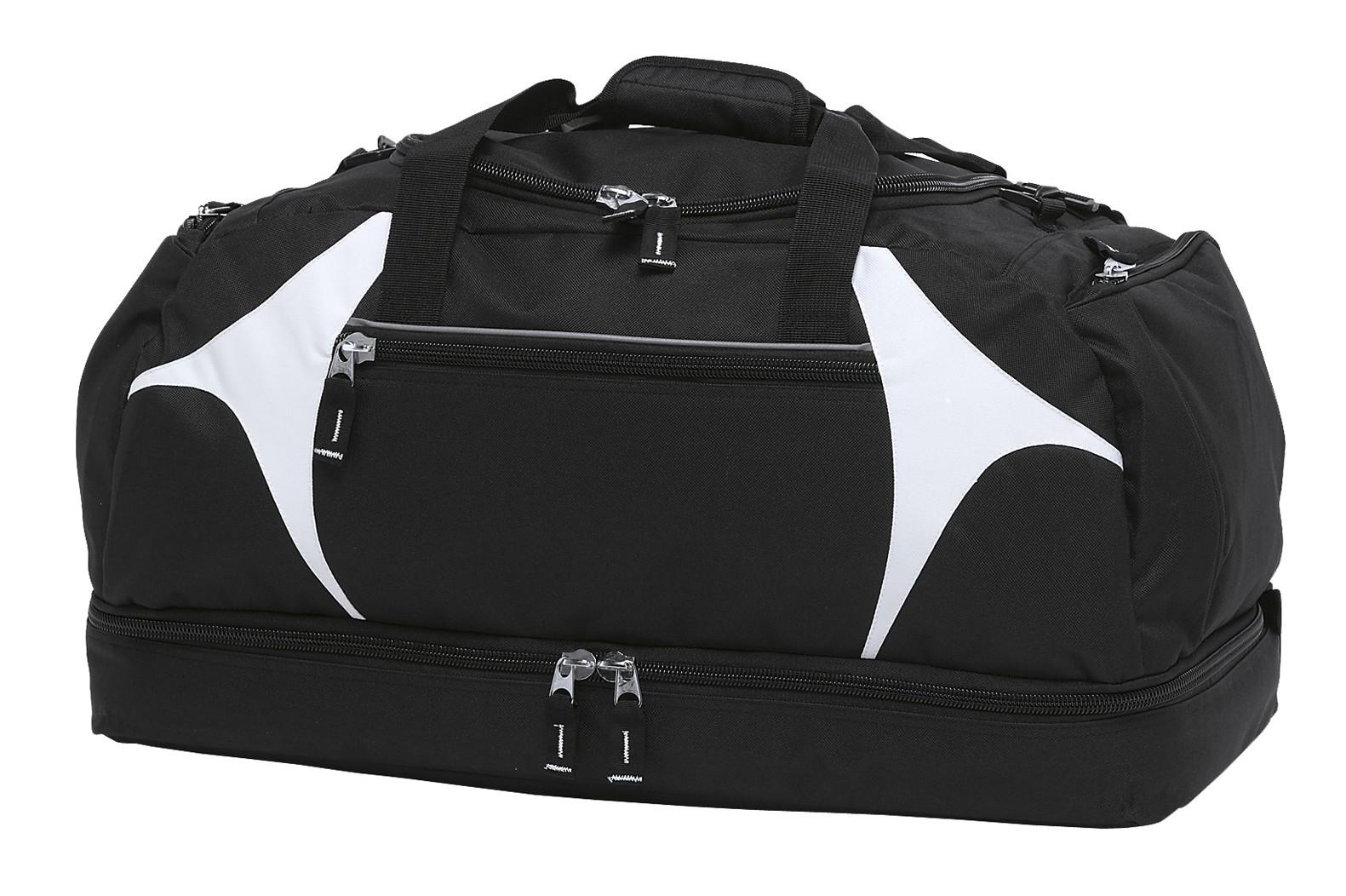 Spliced Zenith Sports Bag - Black & White