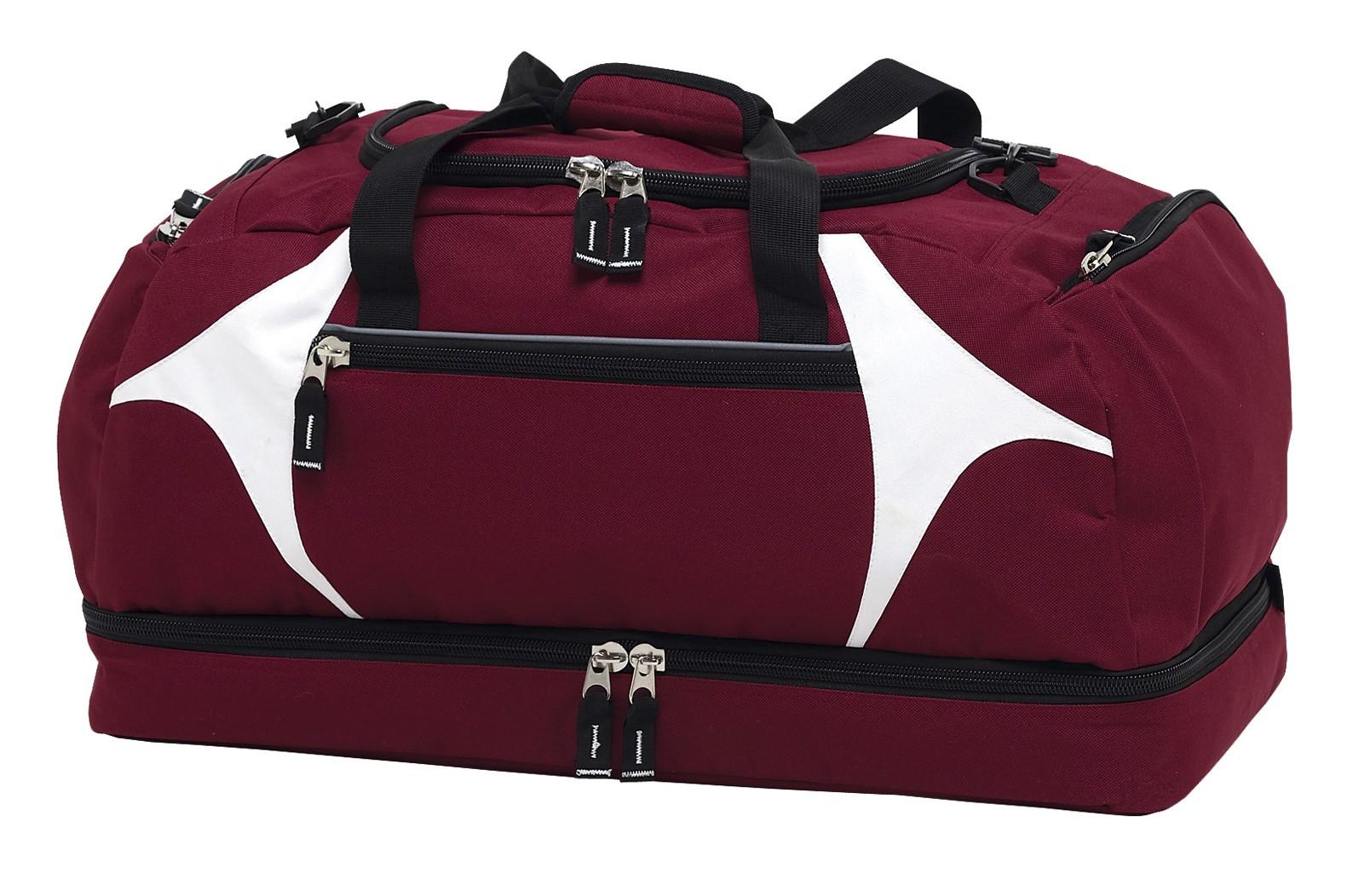Spliced Zenith Sports Bag - Maroon & White