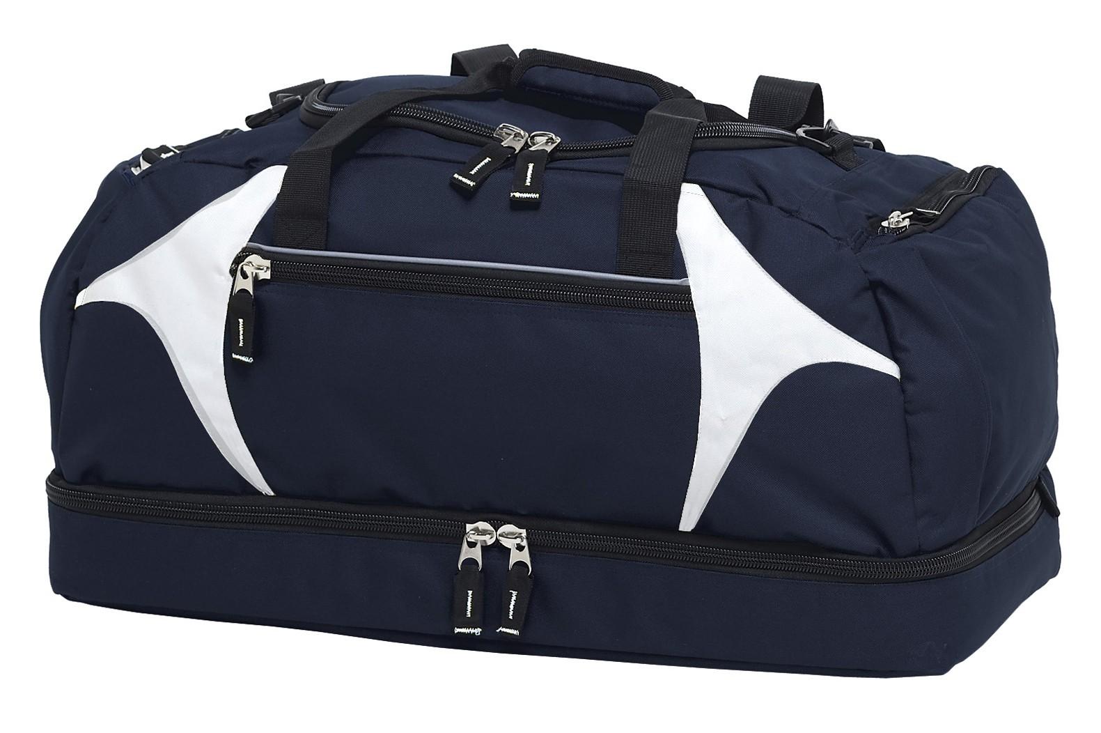 Spliced Zenith Sports Bag - Navy & White
