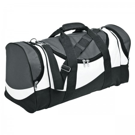 Sunset Sports Bag - Grey, White & Black