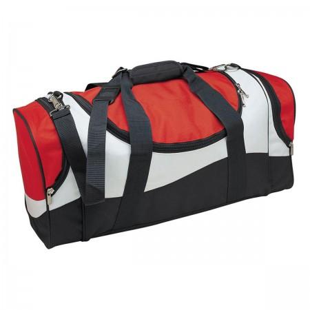 Sunset Sports Bag - Red, White & Black