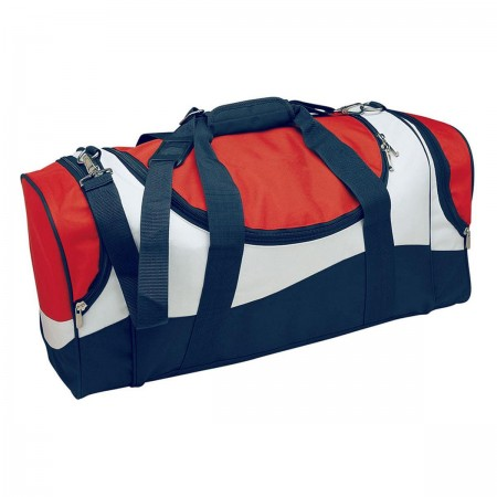 Sunset Sports Bag - Red, White & Navy