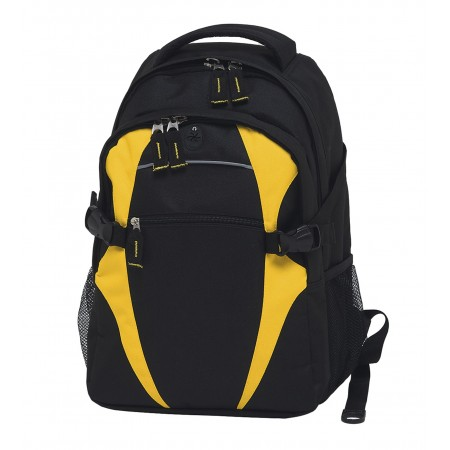 Spliced Zenith Backpack - Black & Gold