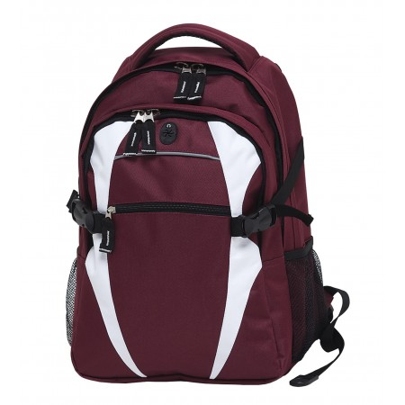Spliced Zenith Backpack - Maroon & White
