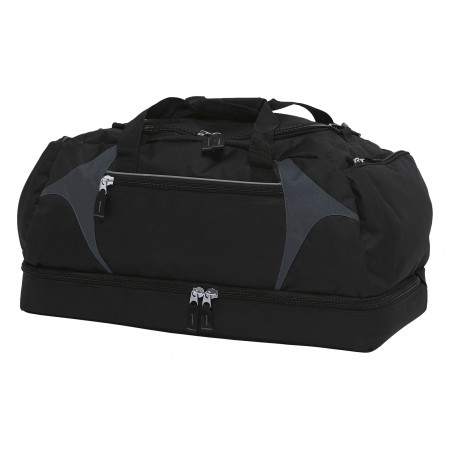 Spliced Zenith Sports Bag - Black & Charcoal