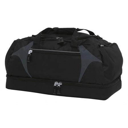 Spliced Zenith Sports Bag - Black & Charcoal