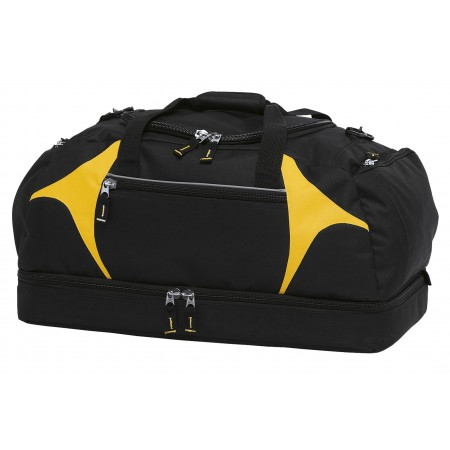 Spliced Zenith Sports Bag - Black & Gold