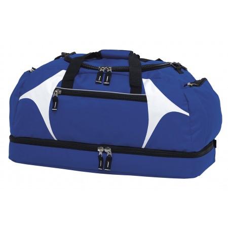 Spliced Zenith Sports Bag - Royal & White