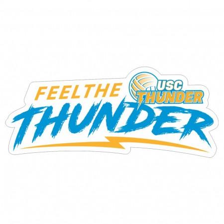 Feel the Thunder Sticker
